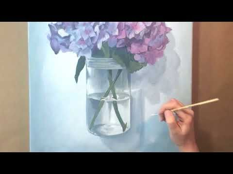 How To Paint Hydrangeas In Watercolor Online Tutorial And Watercolor Dvd Youtube Hydrangea Painting Watercolor Flowers Paintings Diy Art Painting