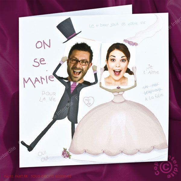 1000 images about faire part mariage on pinterest mariage russia and wedding - Faire Part Mariage Humoristique
