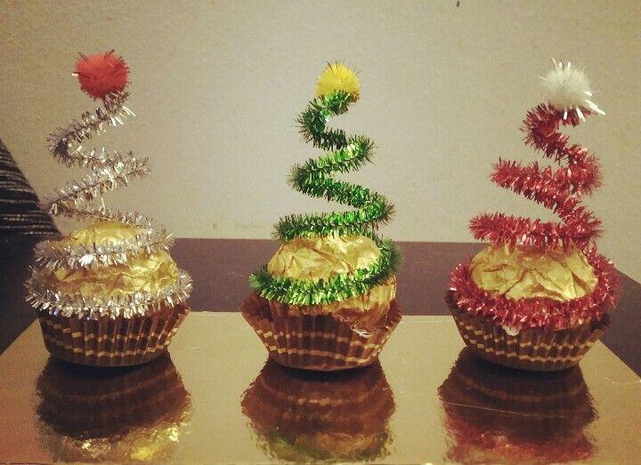 "Mitbringsel ""X-mas Ferrero-Rocher-Schokolade"" 🎀 (ohne Anleitung)・☆・𝔤𝔢𝔣𝔲𝔫𝔡𝔢𝔫 𝔞𝔲𝔣・☆ ・𝔇𝔬-𝔦𝔱-…"