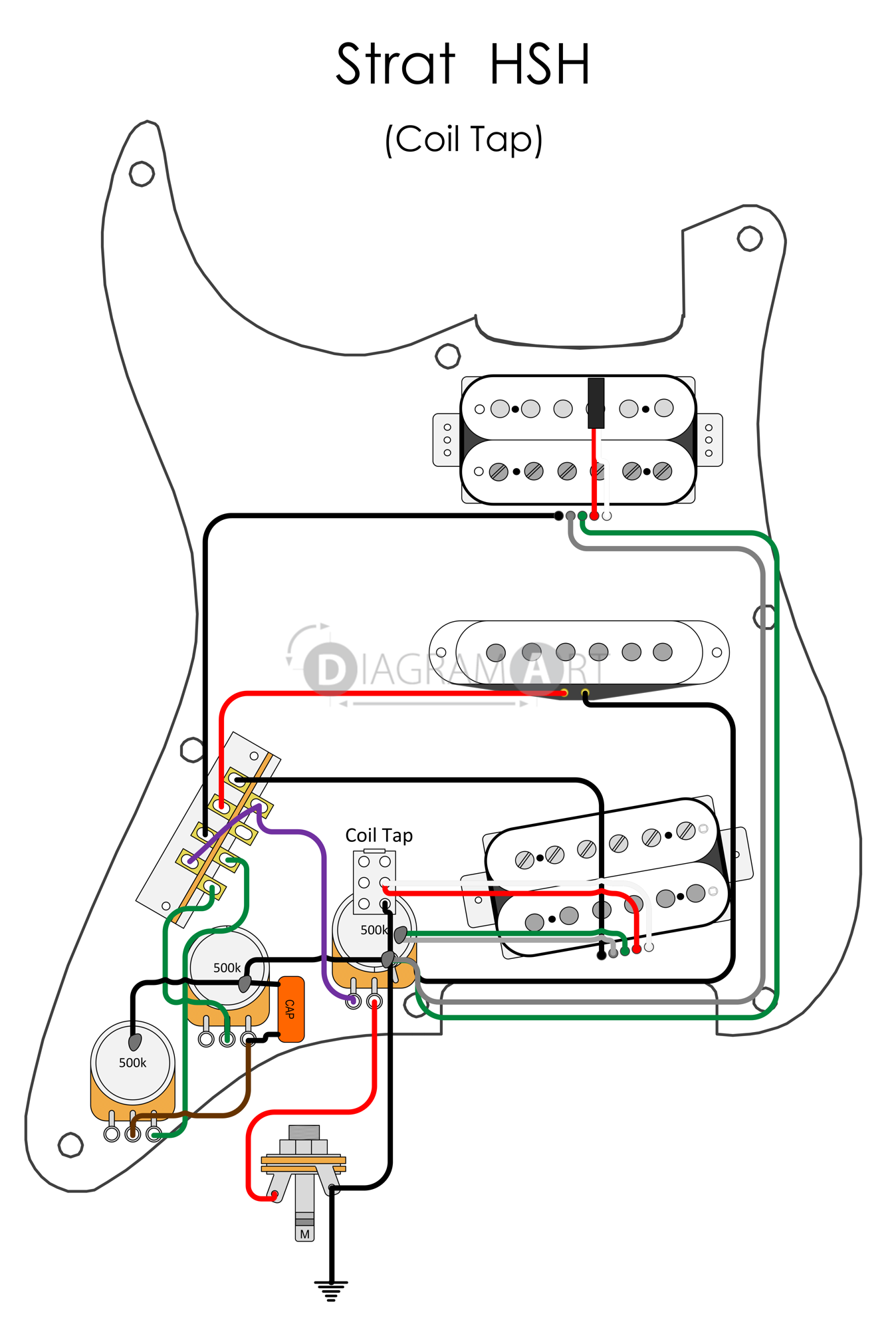 30 Wiring Diagram For Electric Guitar Electricguitars You Might Wish To Pick A Lower Or Greater Value Becaus Stratocaster Guitar Luthier Guitar Guitar Pickups