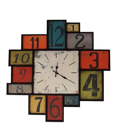 Another great find on #zulily! Patchwork Wall Clock #zulilyfinds