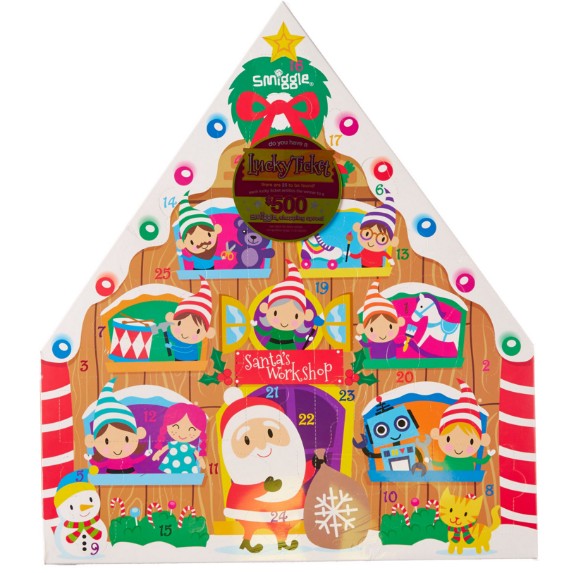 Smiggle Xmas Advent Calendar 2015. Great countdown gift