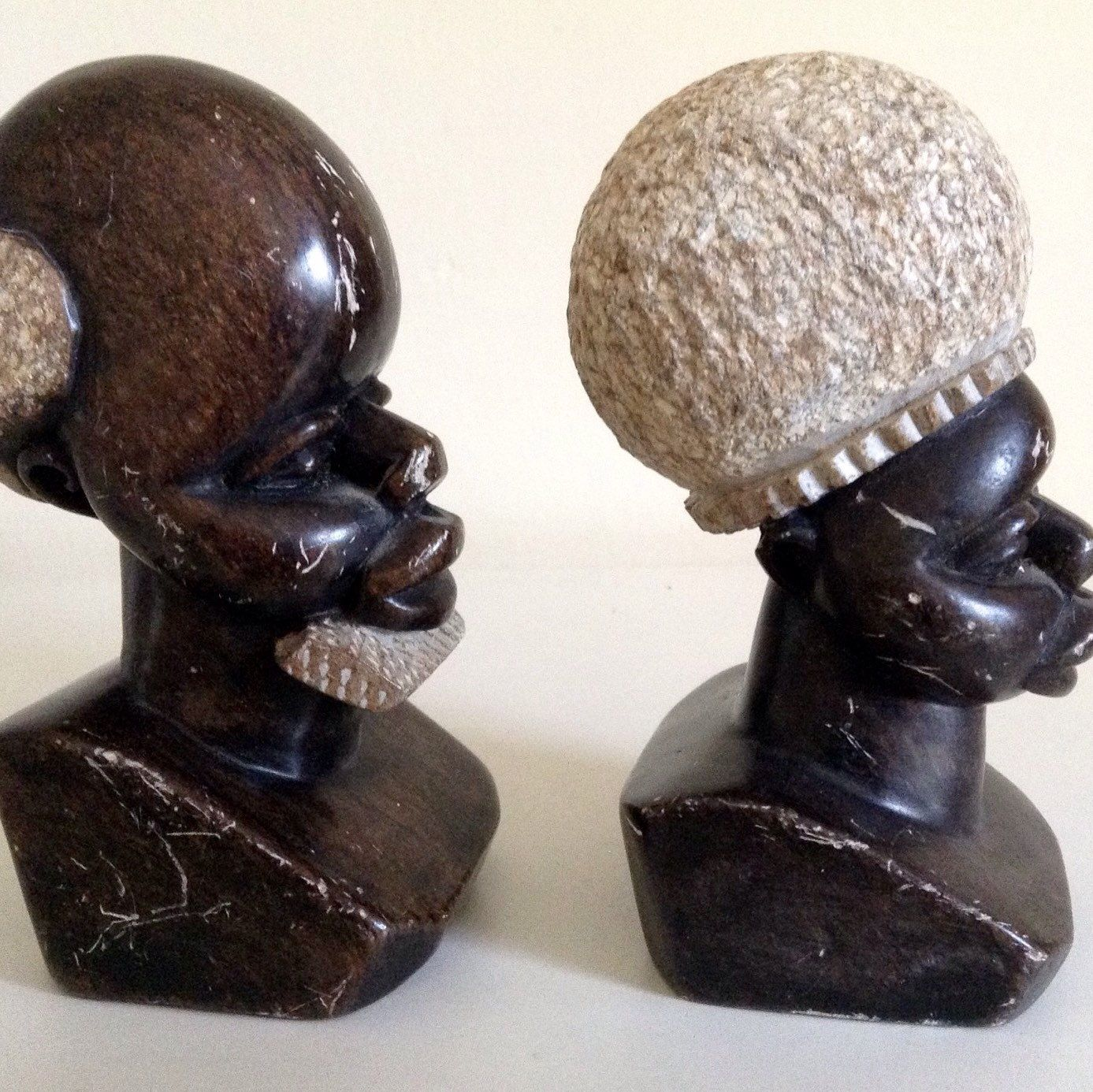 Ethnic stone carving from swaziland in africa have bee