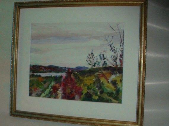 Vintage Watercolor Painting  Lake George by GemsOfTimeVintage, $100.00