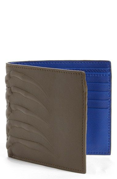 Alexander McQueen Rib Cage Bifold Leather Wallet