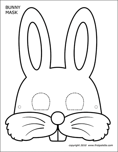 Bunny Masks Free Printable Templates Coloring Pages Firstpalette Com Bunny Coloring Pages Animal Masks Craft Printable Animal Masks