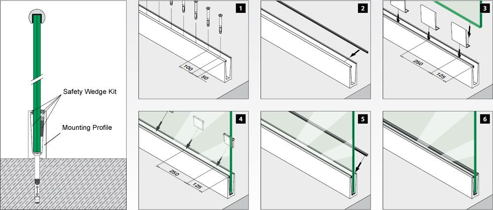 Top Mounting Profiles For Glass Channel Balustrade | Tech