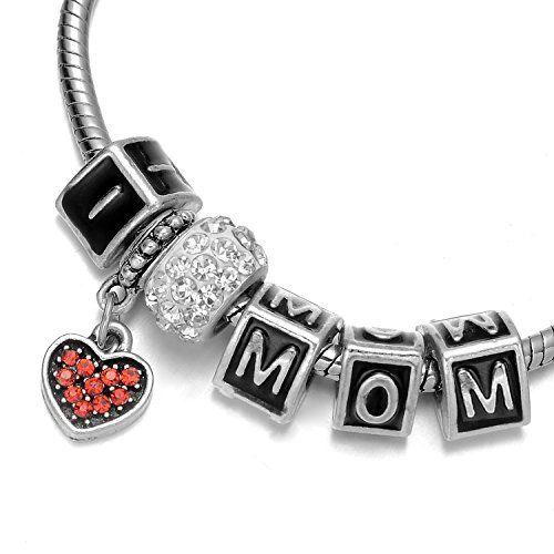 """Onnea® """"I Love Mom"""" Letters Rhinestone Heart Pendant Charms Bracelet for Girls Onnea http://www.amazon.com/dp/B011XAX6NS/ref=cm_sw_r_pi_dp_nRnbxb1HH9KR1"""