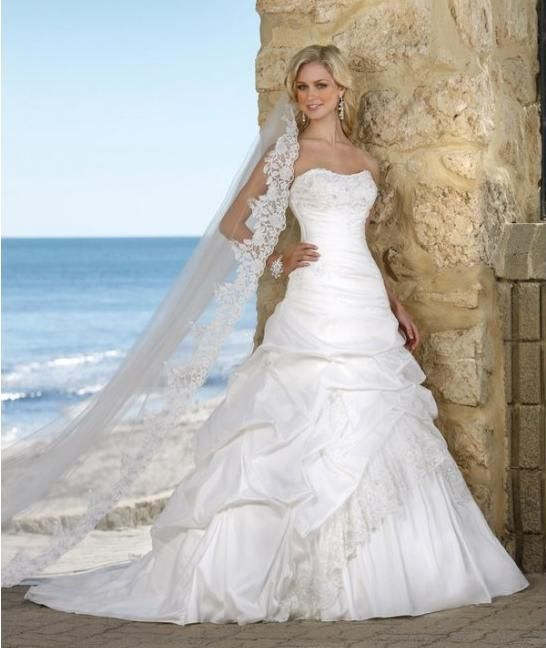 elegance modest wedding dress