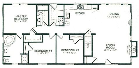 Double Wide Floor Plans Palm Beach Floor Plan House Plans