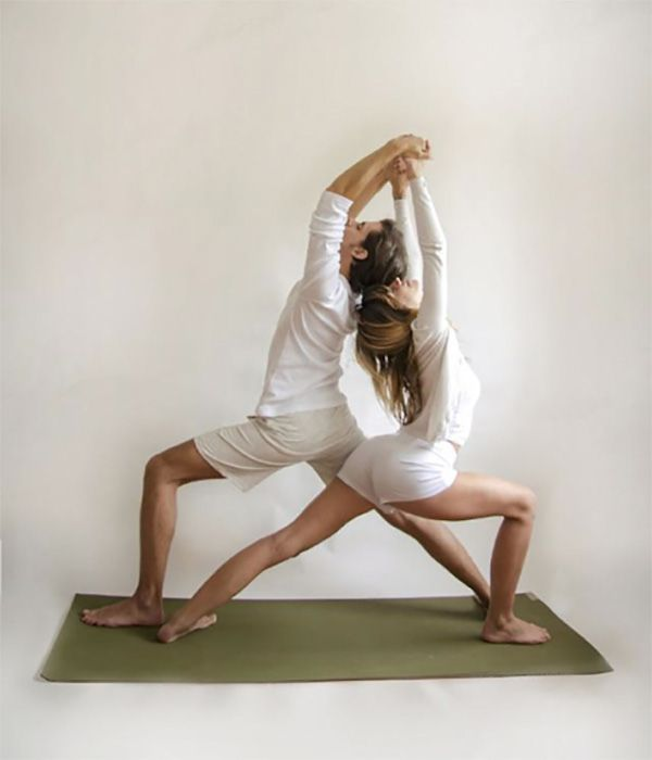 Try These 6 Couples Yoga Poses To Strengthen Your Relationship Couples Yoga Poses Couples Yoga Partner Yoga Poses