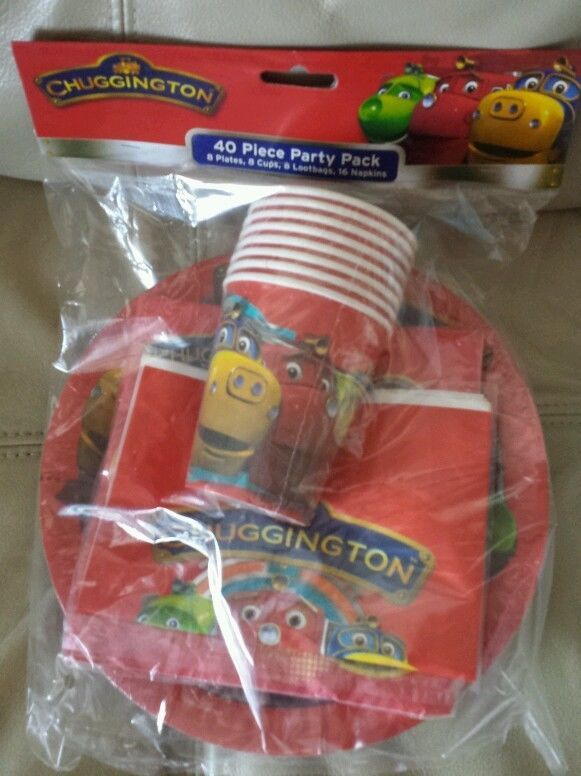 2 x New 40 pieces Chuggington party supplies 8 set cup plate loot