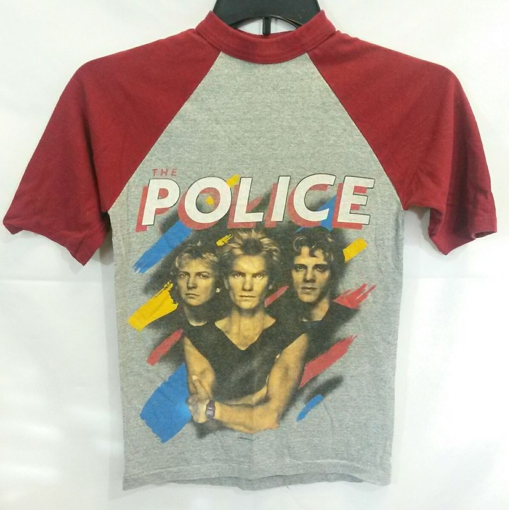 Vintage 1983 The Police Synchronicity North American Tour Shirt