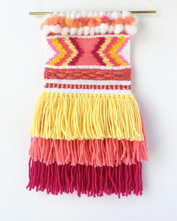 Wall Hanging Tapestry // Boho Woven Wall Hanging // Textile Fiber ...