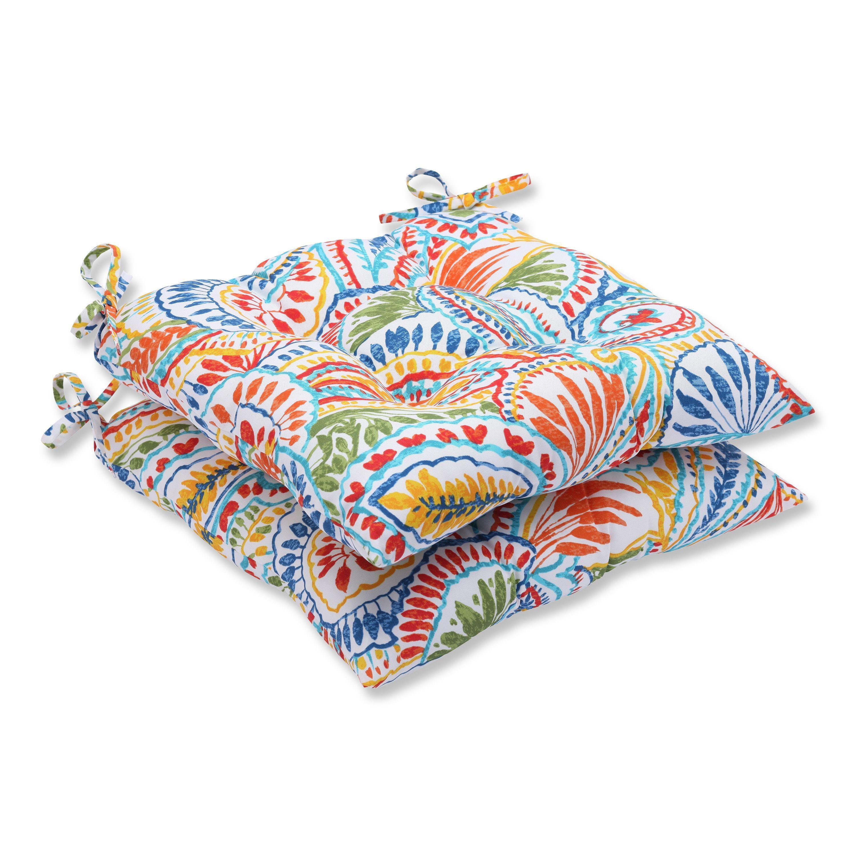 Pillow Perfect Outdoor Ummi Multi Wrought Iron Seat Cushion Set Of