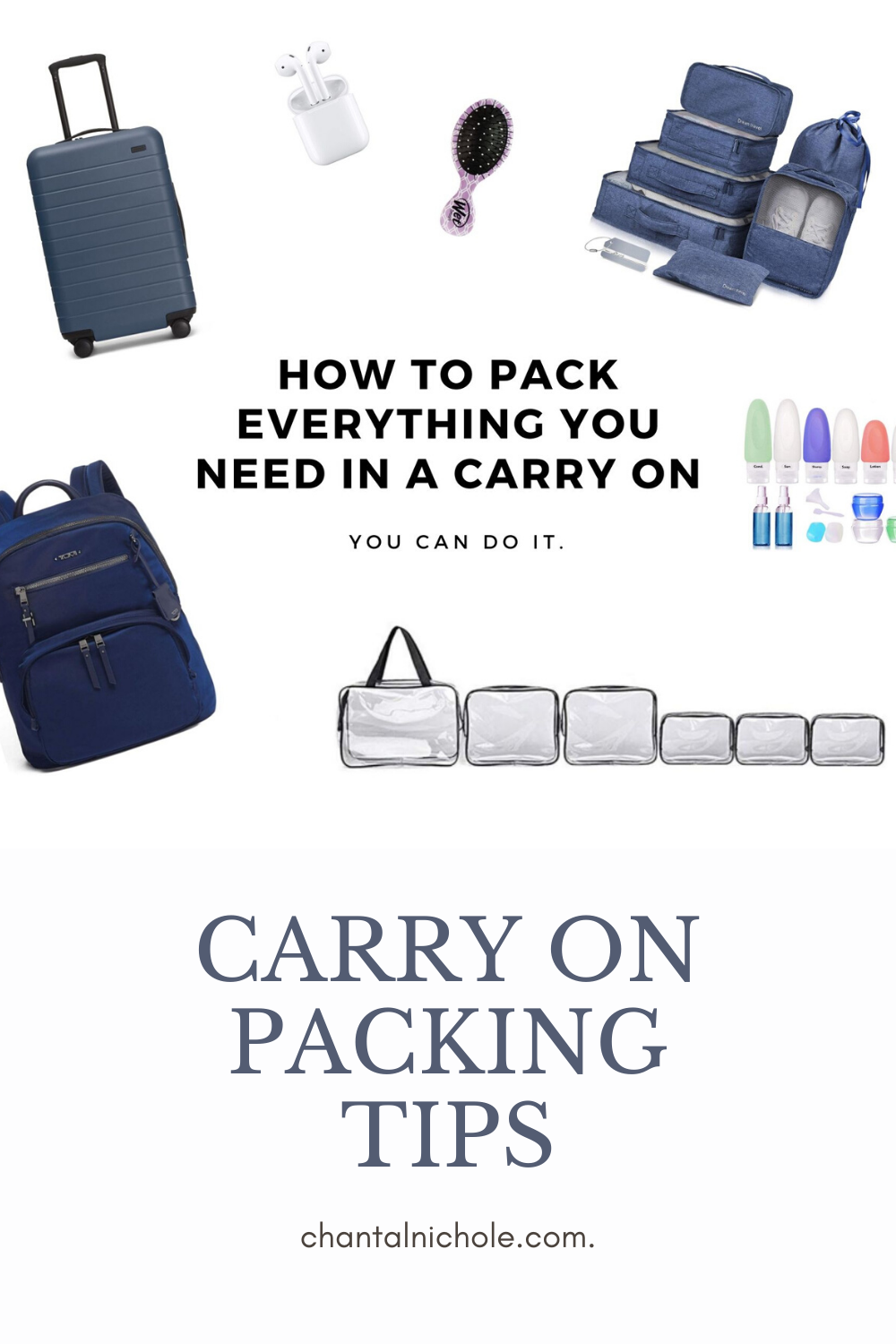 Learn the best tips and tricks for packing a carry on. All the essential items women need for a 2 week vacation. Travel to the best destinations with everything that you need! #carryon #packingtips #howtopack #organize #packlikeapro #travel #packing #pack