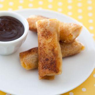 Nems croustillants de chèvre frais et marmelade d'agrumes, sauce chocolatée