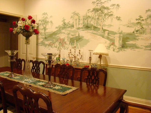 Love the mural wallpaper | Gone with the Wind | Pinterest | Dining ...