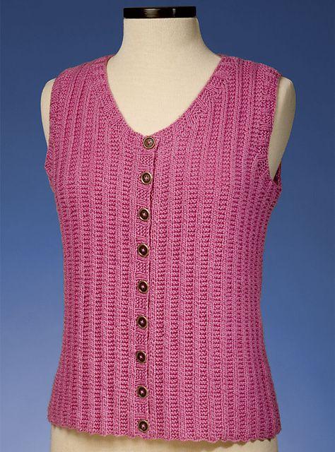 Ravelry: Garter Rib Vest #160 pattern by Sue McCain