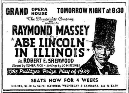 Promotional Ad for the 1940 Premiere Chicago Production of ...