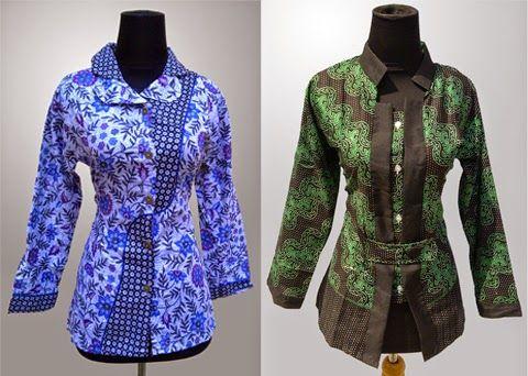 Model Baju Batik Kerja Wanita Modern Terbaru 2015  Kalabaz