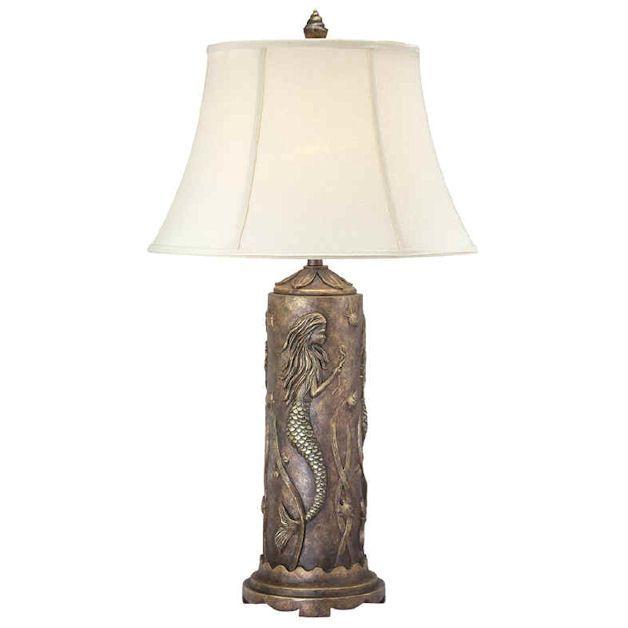 Yachtsofstuff Com Mermaids Art Statues Fountains Antique Table Lamps Antique Table Table Lamp