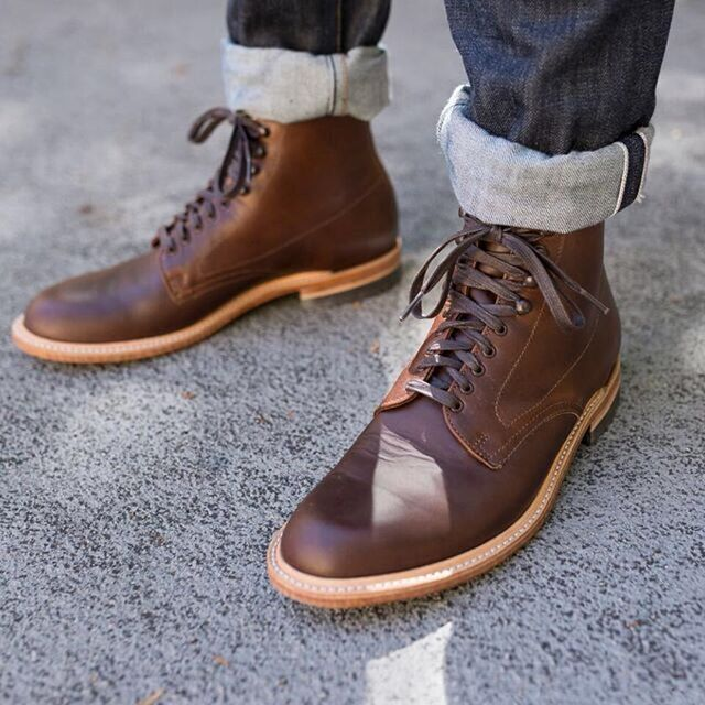 Gustin classic men's boots handmade in America. Brown, natural and ...
