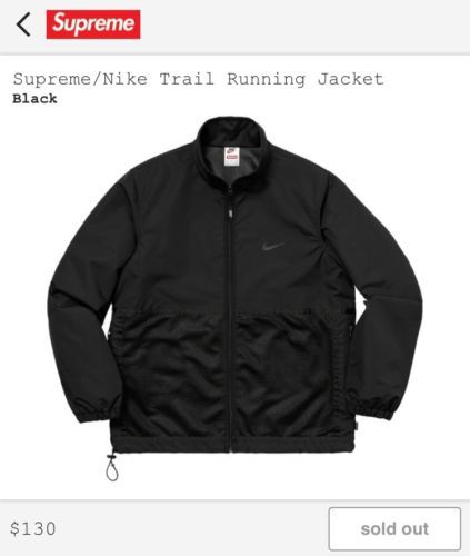 the latest 81323 716e3  240  SupremeX  Nike  Air  Humara-Trail-Running-Jacket-Black-Size-Large