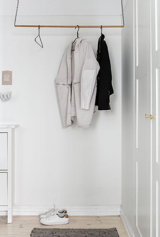 DIY klädhängare i hallen (Trendenser) Hall, Idéer och Inredning