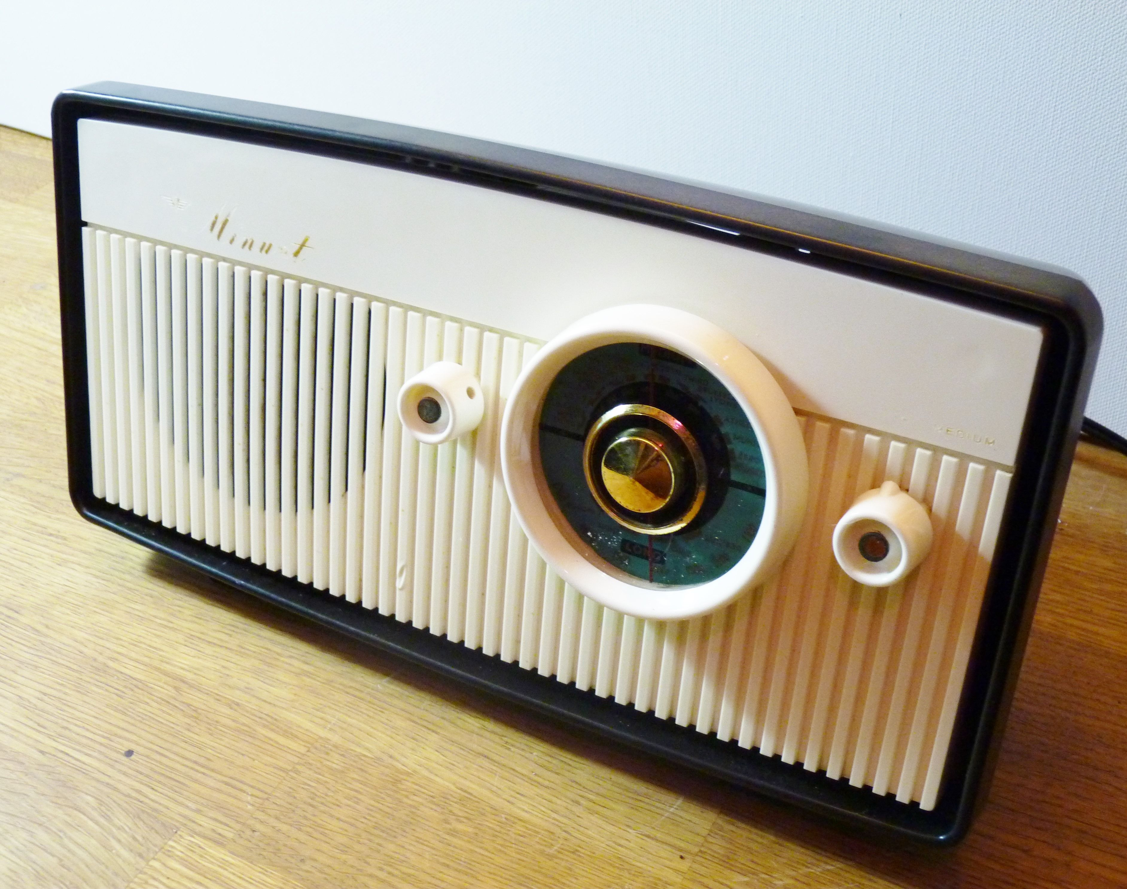 1957 Vintage radio, restored and modified for one of our