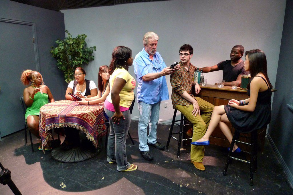 Clarke lindsley instructing one of our acting classes