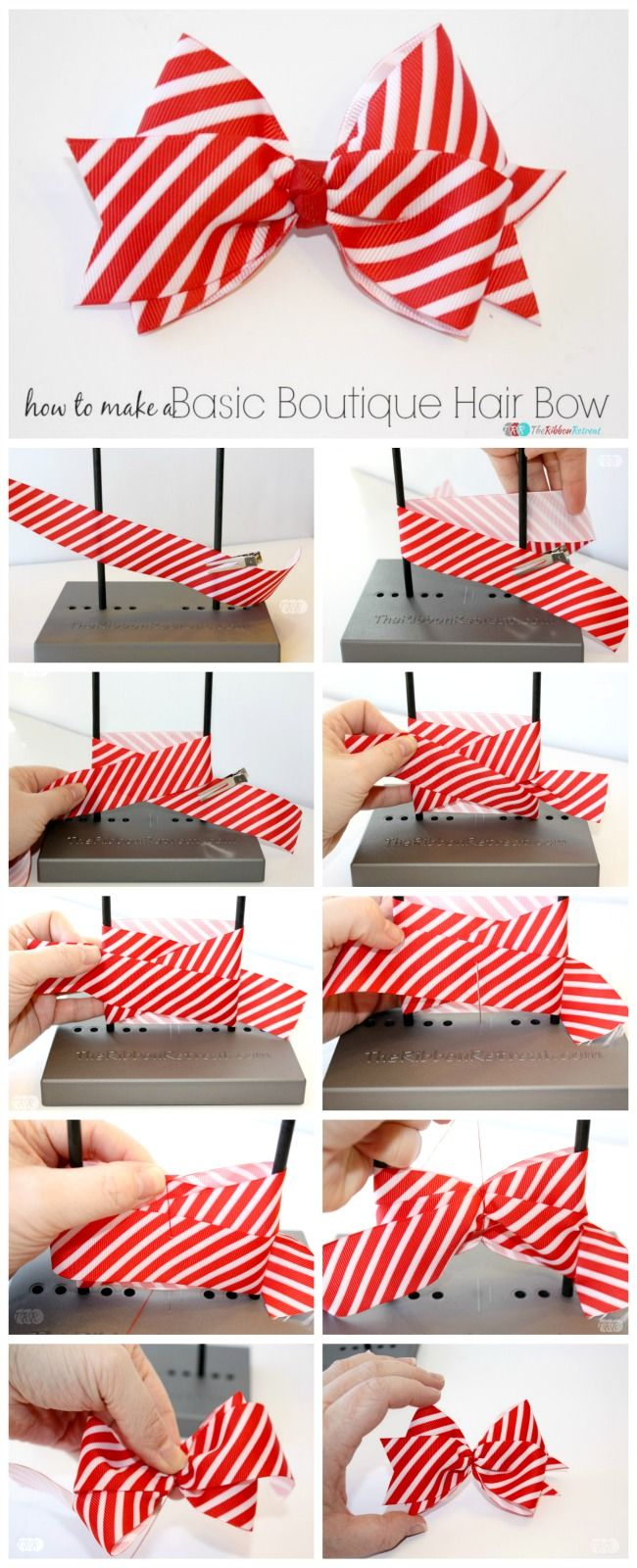 how to make a basic boutique hair bow the ribbon retreat blog