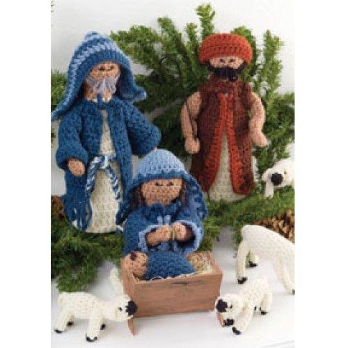 Free Nativity Set Crochet Pattern http://www.marymaxim.com/free ...