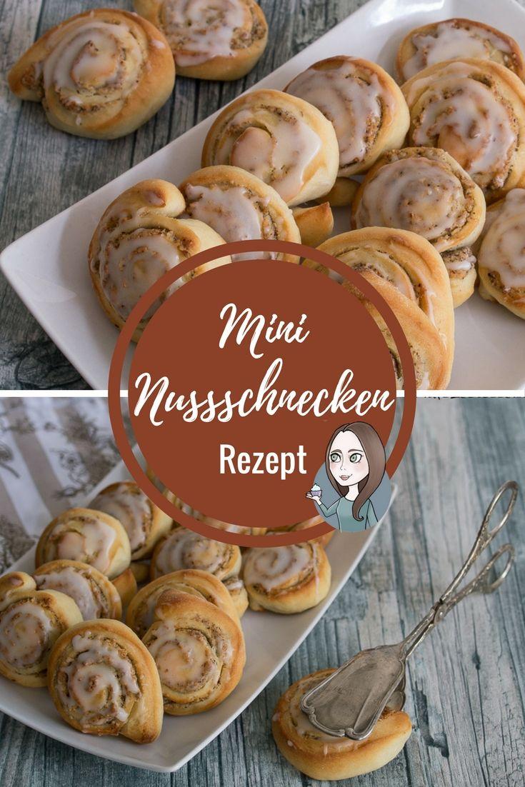 Mini Nusschnecke Suesse Teile Kaffee Rezept Nachtisch Fruhstuck Nuss Schnecke
