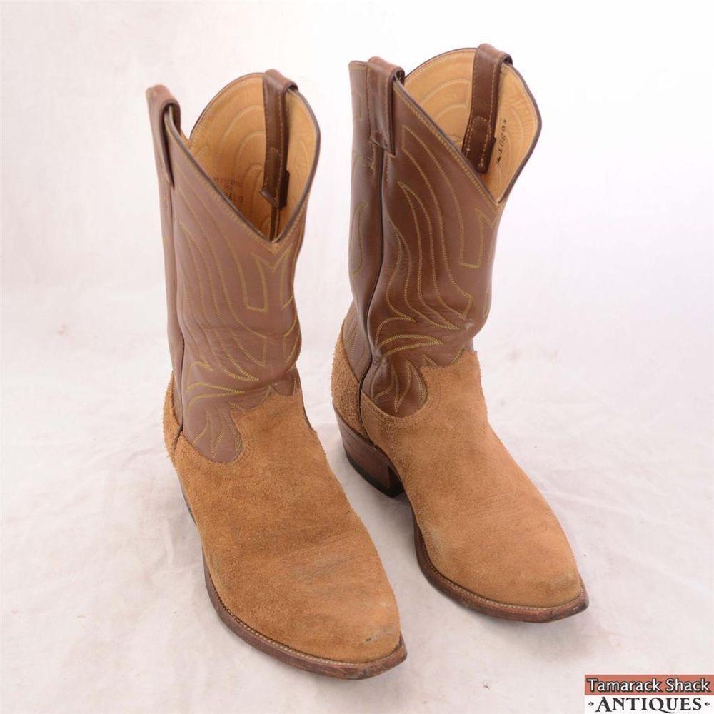 Boots, Vintage men, Tan suede