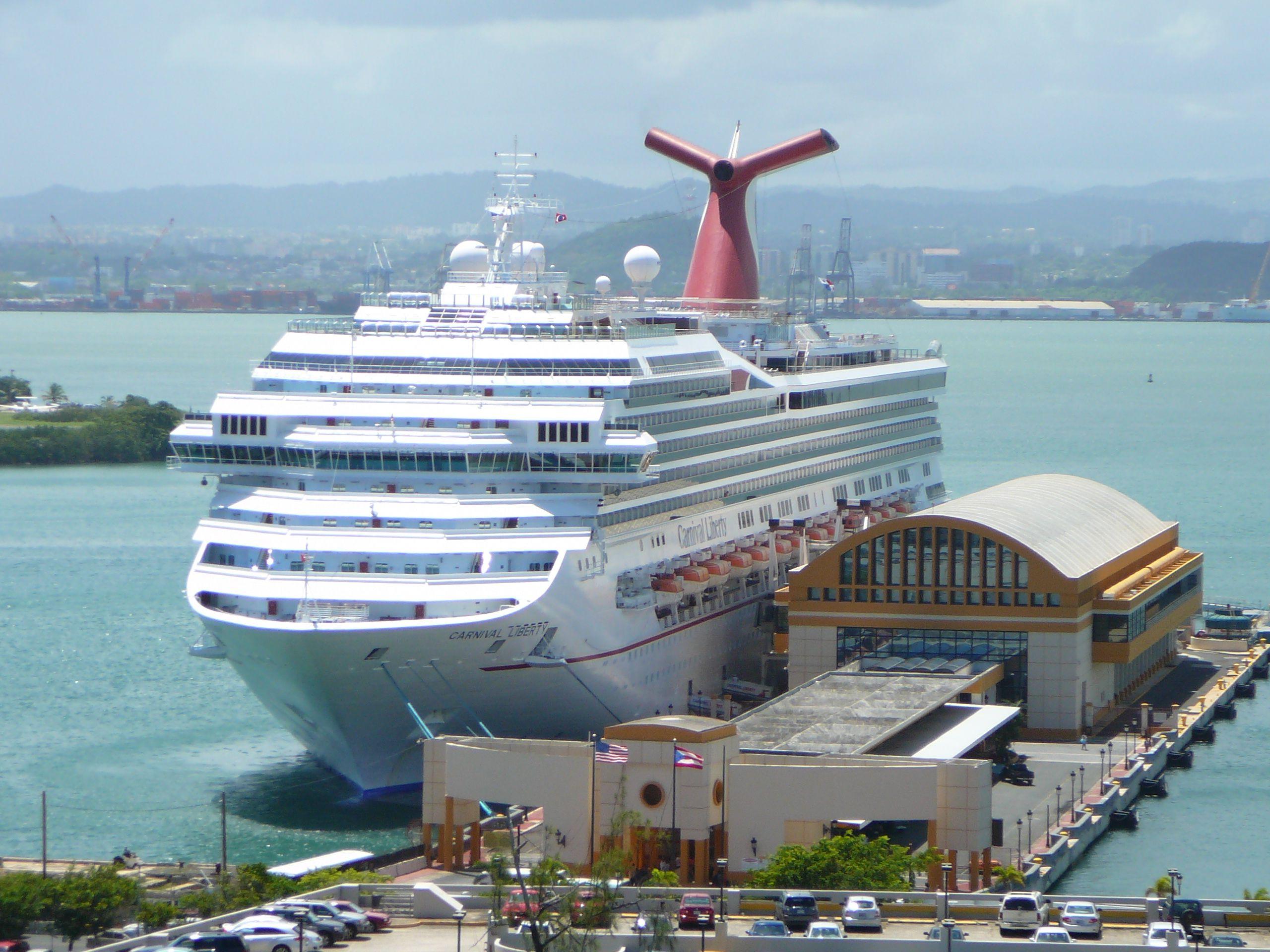 Carnival Liberty docked in San Juan P.R....Sept 2010 ...