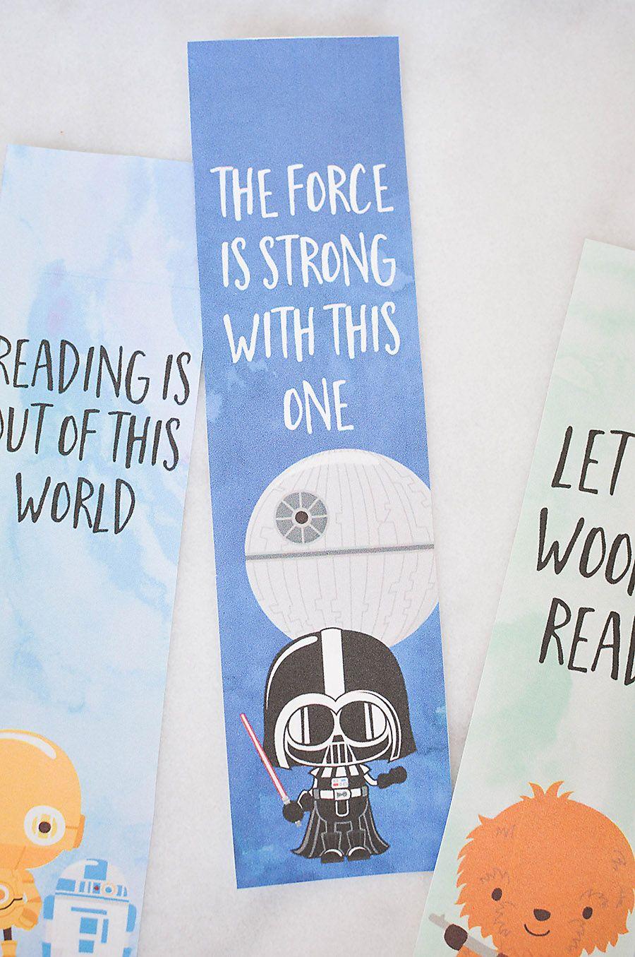 Star Wars Bookmarks - Free Printables for Kids | Lesezeichen ...