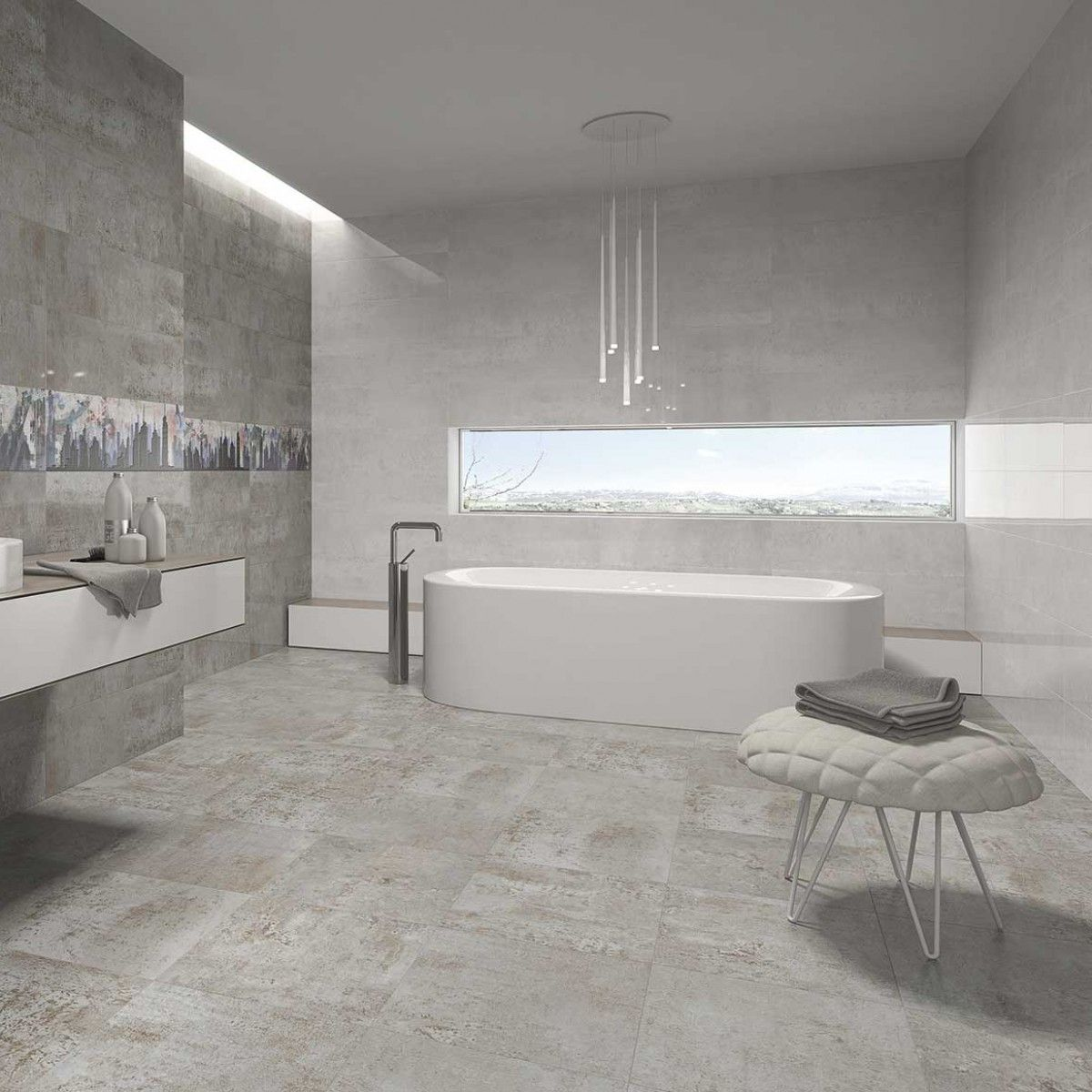 Crown Tiles 85x25 Fusion Blanco Wall Tile Crown Tiles Bathroom Construction Tile Bathroom Large Bathrooms