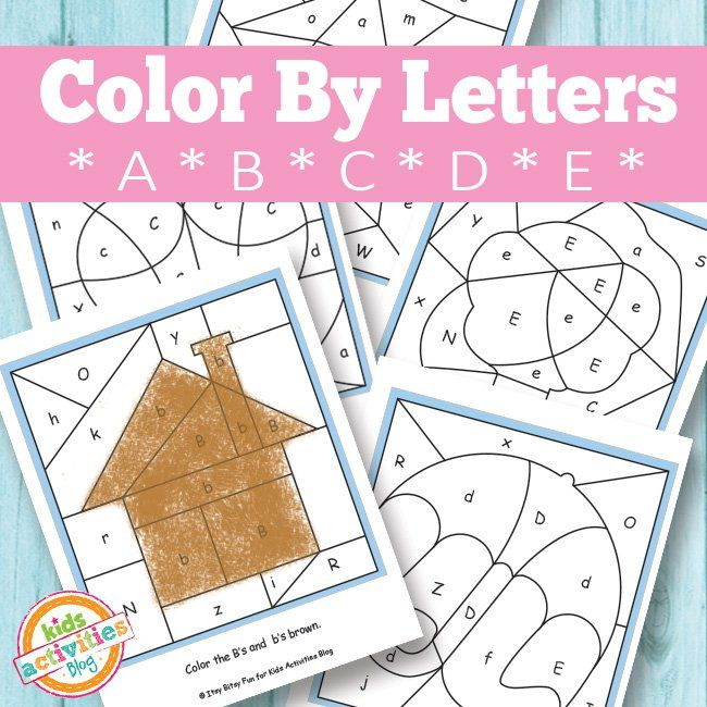 Color By Letters A B C D E Free Kids Printable  Activities