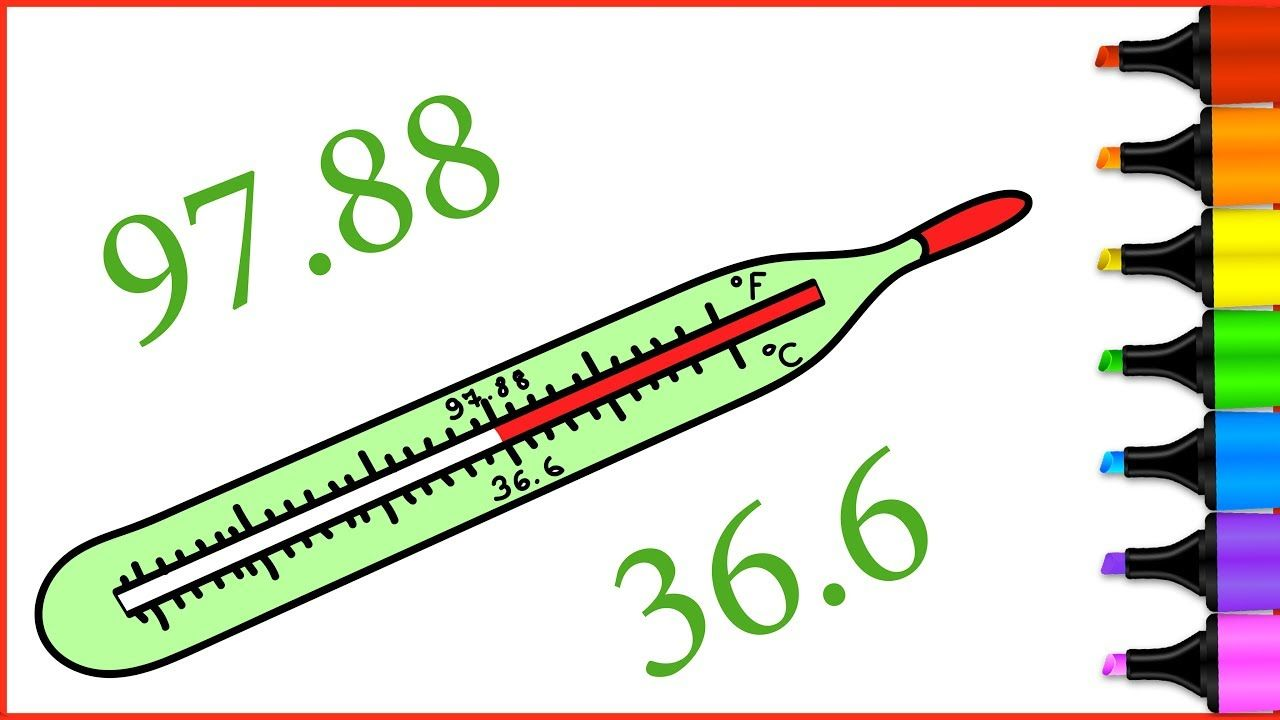 Thermometer Coloring Pages | How to Draw Thermometer | For Kids and ...