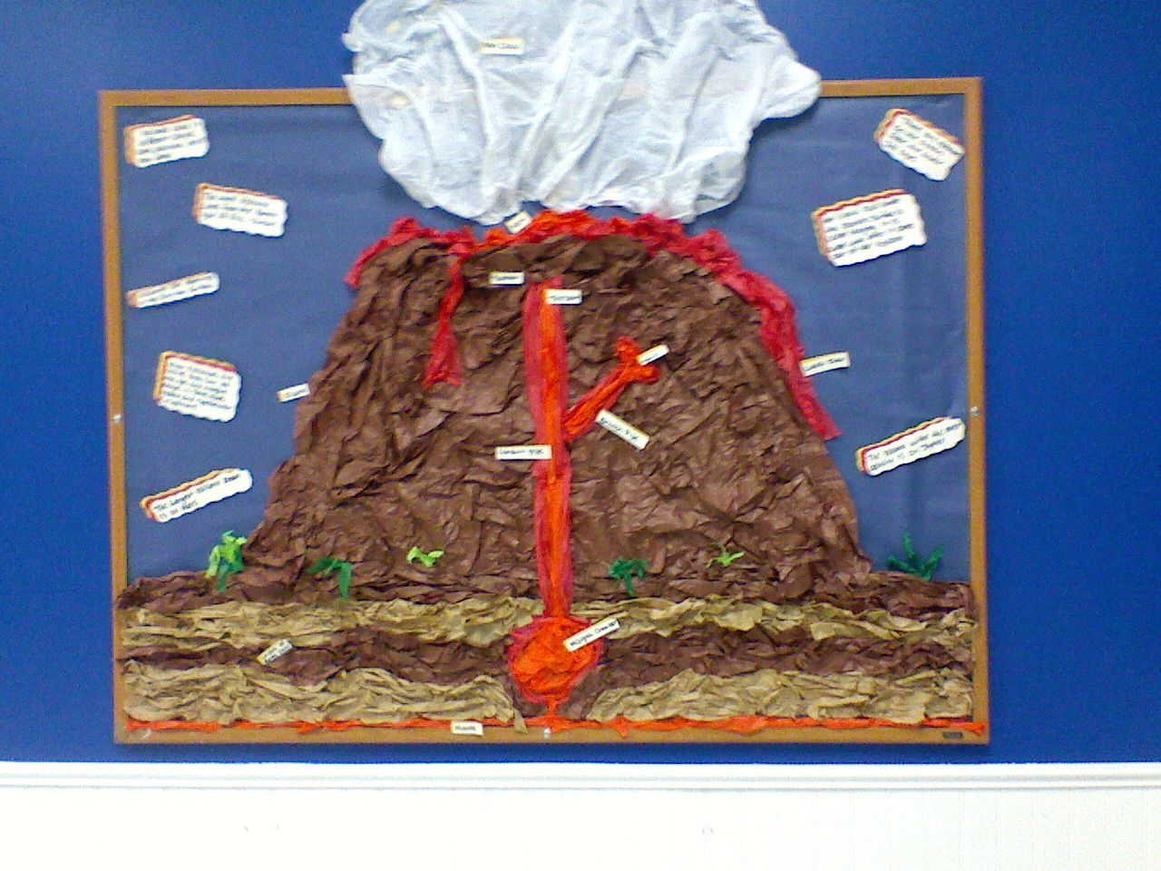 volcano craft ideas science volcano bulletin board time 3194