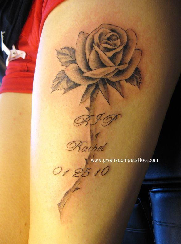 Rip Tattoos With Roses Google Search Purple Rose Tattoos Blue Rose Tattoos Tattoos