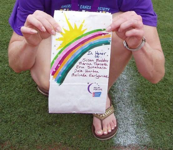 Relay For Life Luminaria Bag Decorating Ideas Luminaria Bag Relay For Life Relay Luminaries Bags