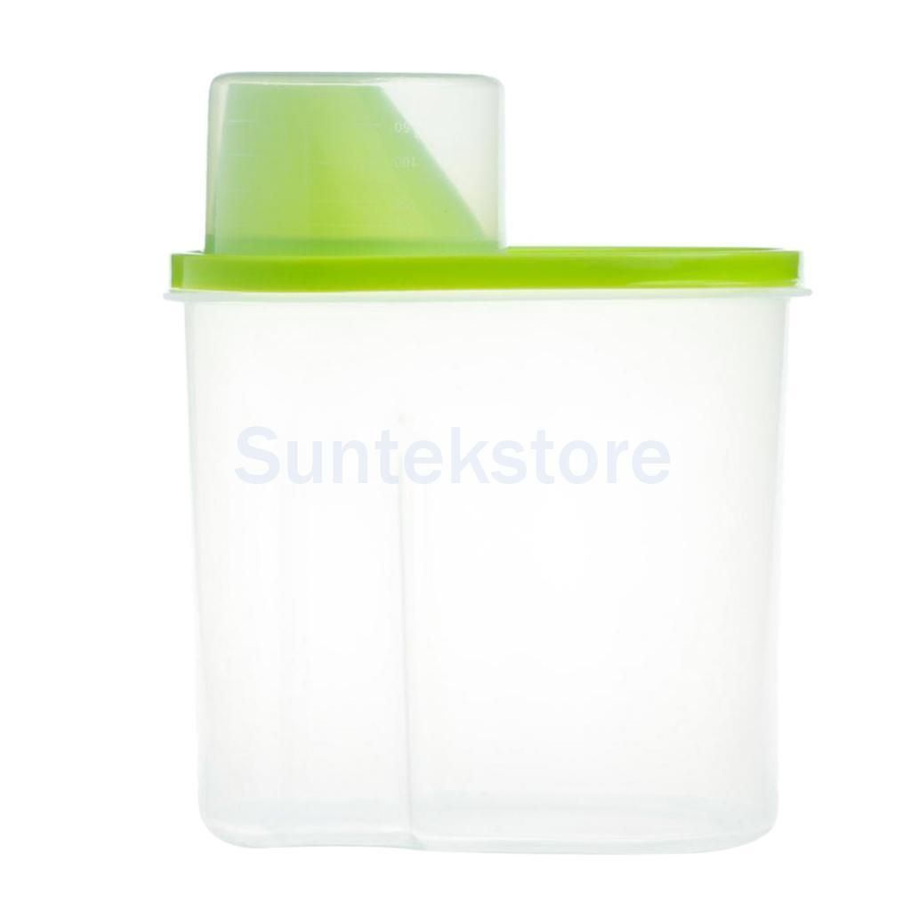 2.5L Dry Food Cereal Flour Storage Dispenser Rice Container Sealed Box Green