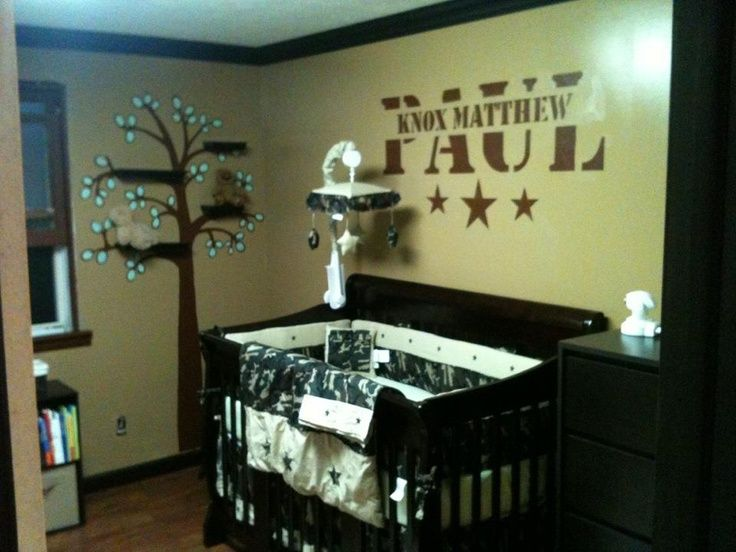 Baby Boy Camo Nursery Fort Knox Down The Road