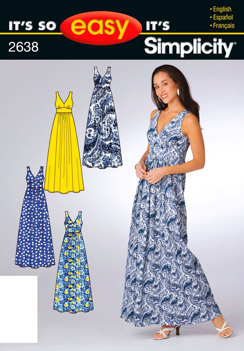 cheap easy simple maxi dress pattern I might have to try this I