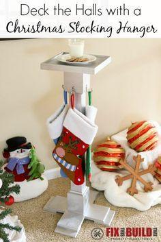 Diy Christmas Stocking Hanger Christmas Stocking Hangers