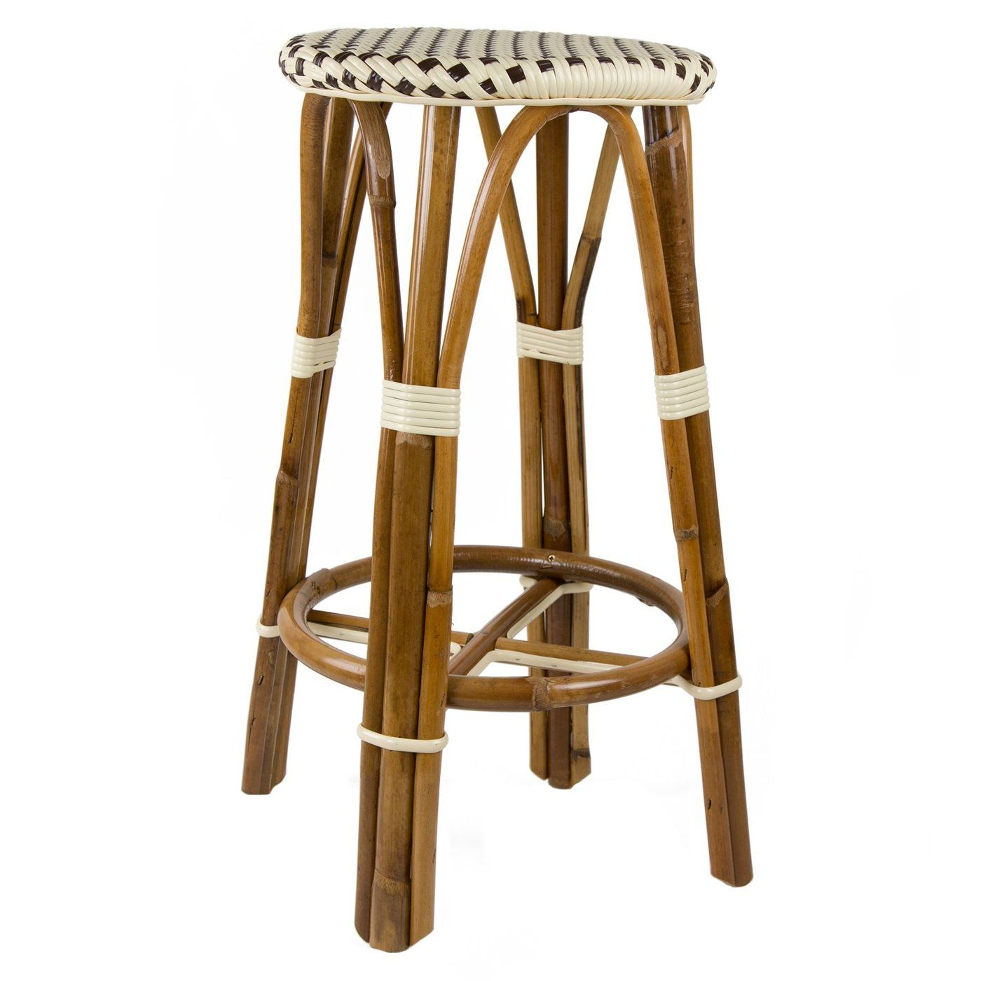 Cream And Brown Counter Height Mediterranean Bistro Bar Stool 26 H E In 2020 Bar Stools Stool Bar