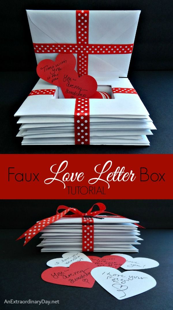 How to Make a Faux Love Letters Box | AnExtraordinaryDay.