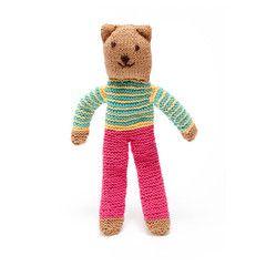 Soft Toy . Fairtrade Hand-Knitted Teddy Bear - Nancy